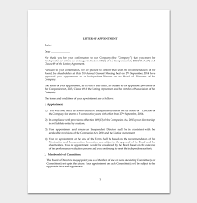 Appointment Letters In Doc Fascinating Company Appointment Letter 48 Samples For Word Doc PDF Format