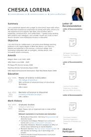 masters student cv