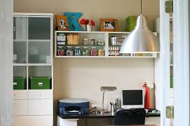 stylish home office space. Built In Desk For Small Home Office Space Design Also Cool Pendant Light Feat Stylish Ikea T