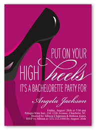 bachelorette party invite stylish stiletto 5x7 invitation bachelorette party invitations