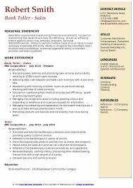 Bank Teller Description For Resumes Bank Teller Resume Samples Qwikresume