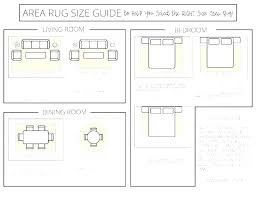 standard area rug sizes typical for dining room siz