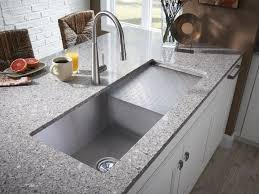 Modern Kitchen Sink Faucets Pretty Honed Granite Countertop Of Kitchenette Cabinet Also Deep