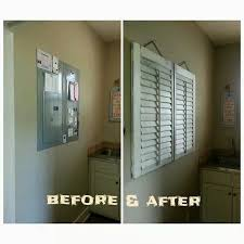 shutters diy electric fuse box cover up design hiding eyesores shutters diy electric fuse box cover up design hiding eyesores shutters boxes and electric