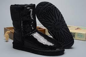 ... UGG Women Classic Short Sparkles 3161 Boots Black ...