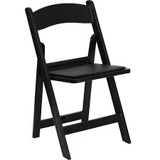 folding chairs plastic. Black Plastic Folding Chair With Padded Seat Wooden Chairs
