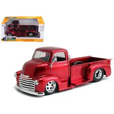1952 Chevrolet COE Pickup Truck Red With Chrome Wheels 1/24 Diecast ...