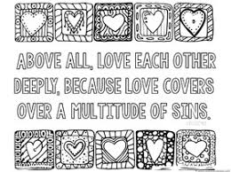 Small Picture Love Bible Verse Coloring Pages 1111