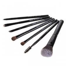 make up for you s0706 7 piece fiber makeup brush set black