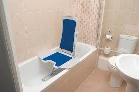 chair in bathroom. amazon.com: drive medical whisper ultra quiet bath lift, blue: health \u0026 personal care chair in bathroom