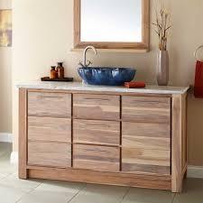 Single Vessel Sink Bathroom Vanity 60 Venica Teak Single Vessel Sink Vanity Whitewash Bathroom
