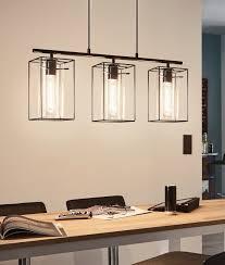 Light Hanging Bar Triple Bar Light With Cylindrical Glass Steel Box Frame