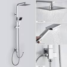 Duschset Ohne Wasserhahn Duscharmatur Regendusche Duschbrause Duschsystem Inkl Handbrause Shower Set Höhenverstellbar 92135cm