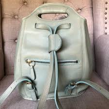 Coach Backpack Turquoise Vintage Drawstring 9994