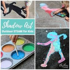 shadow art outdoor chalk paint art