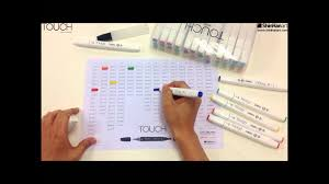 Touch Marker Chart Shinhan Art Touch Twin Brush Marker_make Your Own Touch Color Chart
