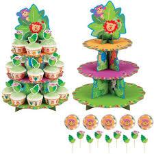 Wilton Jungle Pals Cupcake Stand Kit Cake Pan