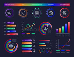 Technology Hud Vector Infographic Diagrams Digital