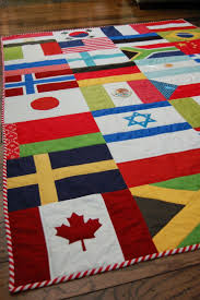 25+ best ideas about Flag Quilt on Pinterest | Wzory pikowaÅ? i ... & The Little Fabric Blog: Olympic Flag Quilt + Tutorial! Adamdwight.com