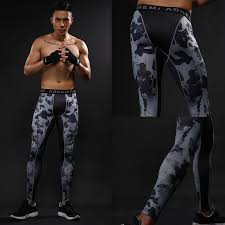 high elastic mens pression tight pants quickly dry anti bacteria crossfit fitness leggings long trousers pants drop shipping clothing