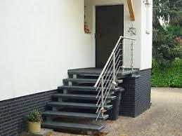 Finde jetzt schnell die besten angebote für treppe mit podest kaufen auf focus online kleinanzeigen. Treppe Aussen Haus Eingang Podest Naturstein Granit Beton Stufe Tritt Schwarz Ebay