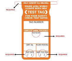 Electrical Tagging Colour Chart Wa Test Tag Labels A Complete Guide