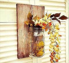 upcycled pallet mason jar wall decor