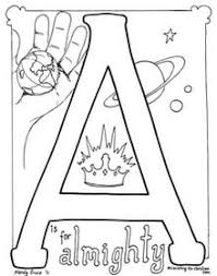 Ask your child to count the ice cream cones and snail. A Is For Almighty Coloring Page