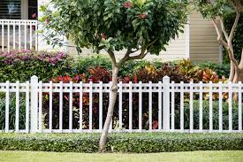 front yard fence. Spaced White Picket Fencing In Front Yard Fence