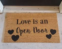 open door welcome mat. Love Is An Open Door | Doormat Valentines Day Decoration Mat Welcome M