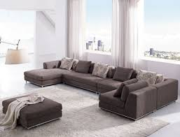 contemporary furniture for living room. Lush Living Room With Contemporary Furniture Of Grey Sofa And Square Stuff For