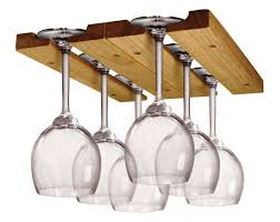 image of under cabinet wine glass rack