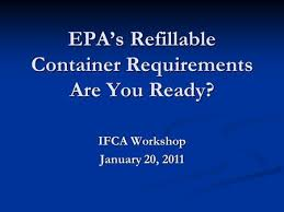 1 Pesticide Container Containment Regulation Update U S Epa