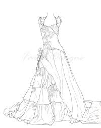Dresses Coloring Pages Courtoisiengcom
