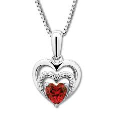 ruby heart necklace sterling silver tap to expand