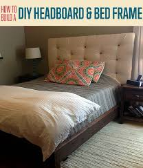 how to build a headboard and bed frame diy upholstered intended for easy ideas 11
