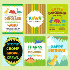free dinosaur party invitations birthday invitation with dinosaurs vector free download
