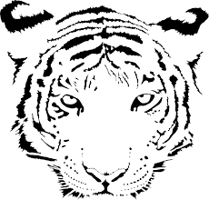tiger face clipart black and white. Brilliant Black Tiger Clip Art At Clkercom  Vector Clip Art Online Royalty Free  With Face Clipart Black And White I