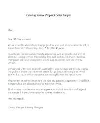 Sample Letter Of Proposal For Service Catering Proposal Letter Sample Vbhotels Co