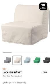 ikea lyksele havet single sofa bed