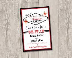 Las Vegas Save The Date Printable Las By Thepapervioletshoppe S Save The Date Wedding Invitation Wording