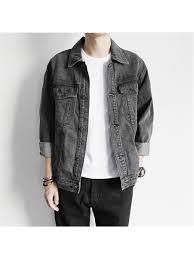 2018 new brand vintage design men s denim jacket male solid color slim fit full sleeve jackets