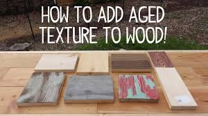 how to make wood look old weathered texture trick