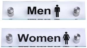 restroom signs. Perfect Restroom U201cMenu201du201cWomenu201d Restroom Signs  Acrylic With Steel Standoffs And S