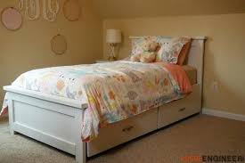 Twin Bed Frame With Storage Twin Storage Bed Twin Xl Bed Frame ...