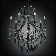 cau glow black wrought iron crystal chandelier 554jd8lmi 7j