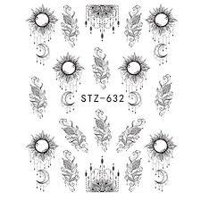 Lxyqw Adesivo Per Unghie 1 Pz Slider Nail Sticker Gradiente Loto