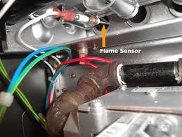 carrier flame sensor. clean flame sensor carrier y