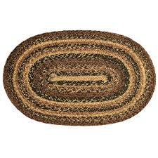 ihf home decor cappuccino oval jute braided area rug floor carpet 36 x 60 inch