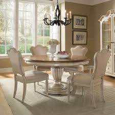 provenance wood round dining table in antique linen w no leaf